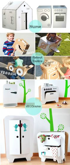 DIY Inspiration: Cardboard Appliances and Toys