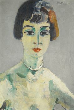 KEES VAN DONGEN 1877 - 1968 SUZANNE Signed Van Dongen (upper right); signed Van Dongen, titled and inscribed 5, rue Juliette Lamber Paris XVII (on the reverse) Oil on canvas 21 7/8 by 15 1/4 in 55.5 by 38.5 cm Painted circa 1925-30