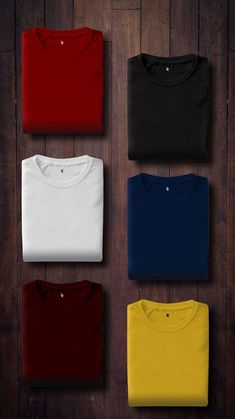 9 Wonderful Desert Fashion Images Assorted Color Folded Shirts On Wooden Panel T Shirt Printing Company, Printing Companies, Beau T-shirt, T Shirt Picture, Geile T-shirts, Clothing Photography, Tshirt Photography, T Shirt Image, Polo T Shirts