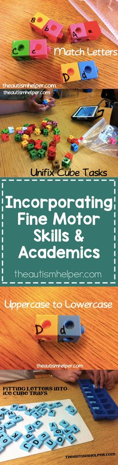 Our kids have SO much to work on so it's hard to focus on only one learning task. I love incorporating fine motor skills into academic learning to make it more interactive & engaging. Check out some of my favorites from theautismhelper.com