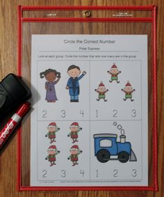 I have added Polar Express Dry Eraser Sheets to 1 - 2 - 3 Learn curriculum. :)