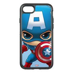 Captain America Stylized Art OtterBox Symmetry iPhone 7 Case