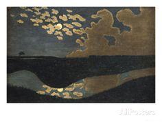 Moonlight, 1894 reproduction procédé giclée par Félix Vallotton sur AllPosters.fr