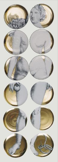 """Fornasetti """"Eve"""" set of plates"""