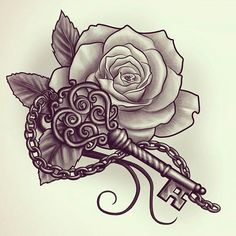 For the key without the chain and rose