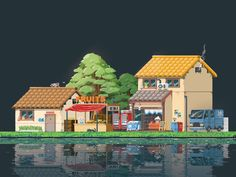Pixel town by Chenzhang Feng #Design Popular #Dribbble #shots