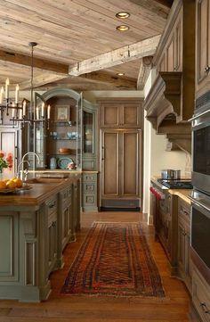 As cozinhas rústicas em Mountain Homes-22-1 Kindesign