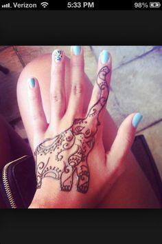Henna Tattoo Elephant Traditional