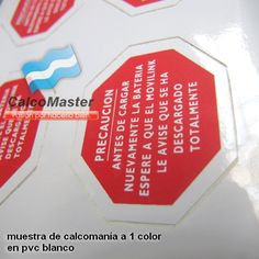 Calcomania a 1 color