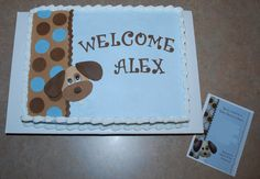 Puppy Dog Cake to match Invite ~ NutMeg Confections