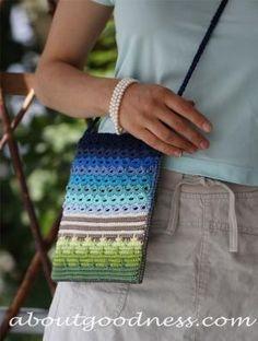 Crochet Unique Bag Free Pattern Front by 5buglets