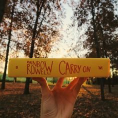 jessethereader:  working my way through carry on by rainbow rowell. what are you guys reading? #bookstagram