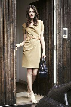 Jermyn Dress.  Beautifully elegant dress with soft draping around the neckline. Ultra feminine.