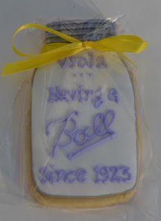 Having a Ball 90th birthday cookies