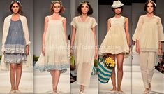 Looking at this collection, I could so very easily be a Péro girl. Casual without being dowdy, the clothes were easy, perfectly styled and contemporary while still leaving no one in any doubt of their Indian origin. White Lace, White Dress, Lace Tunic, Trendy Outfits, That Look, High Heels, Jumpsuit, Indian, Lace Dresses