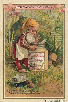 1892. The Gnome trading card issued by Liebig Extract of Beef Company. S345.