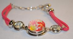 Bracelet Stud Button with bead - Fits from 19cm up to 25cm wrist
