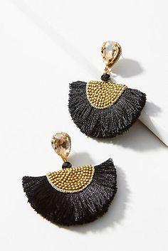 Petite Tasseled Fan Drop Earrings