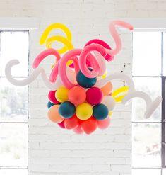 DIY balloon chandelier