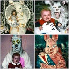 Terrible Easter Bunny pics!  HAHA  creepy rabbit! What kinda sick person are you?!?