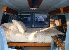 "One way to convert a van for ""Vandwelling"""