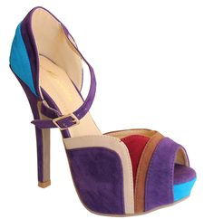 Mira-20 Women's Faux Suede Peep Toe Platform High Heels Sandals ** Read more  at the image link.