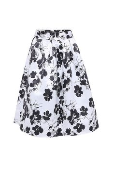 Full A-line Midi Skirt With Floral Print - US$27.95 -YOINS