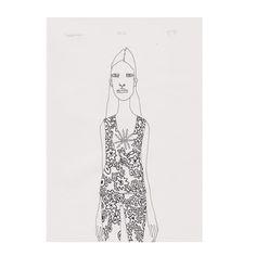 """Balenciaga"" Deli Original Drawing via fridawannerberger (the shop). Click on the image to see more! #balenciaga #fridawannerberger #fashionillustration #illustration #teckning #drawing #ink #fashion"