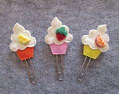 Cupcake corner felt bookmark coloful sprinkles felt by Lanatema