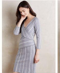 106b919b412f Anthropologie Maeve Wrapped Stripe Column Dress Size Xs-S-M-L-Xl