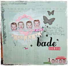 #scrapbooking, DT layout made for Scrap-Perra (my own layout sketch)