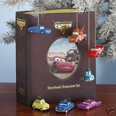 Disney Cars Storybook Ornament Set with Case Cars http://www.amazon.com/dp/B001LOQLXE/ref=cm_sw_r_pi_dp_jhGuub1D4EQ1H