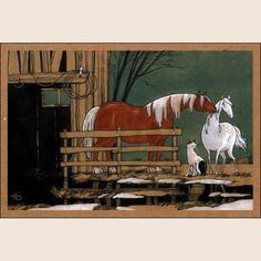 Любовь и лошади. Из набора Про Лошадь - Катя Бауман   Магазин открыток Cardspoint.ru