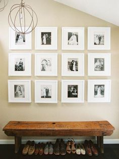 Transitional Gallery Wall/Bench