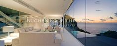 Fantastic view | sunset | Mallorca | living room | white sofa