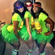 DIY Sexy Ninja Turtle Costume: They came out awesome. NOT SEXY, just girly! put with green tights for a little girl.