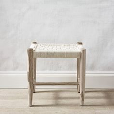 This wonderful Woven Stool is crafted from Indian Sheesham wood, known for its superior strength and rustic appearance. Its natural markings and hand-woven technique mean each piece has a unique charm and artisanal feel. With a woven, plaited texture, Dressing Table Seat, Bench Stool, The White Company, Improve Yourself, Hand Weaving, Rustic, Bedroom, Wood, Benches