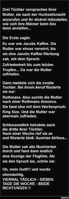 Drei Töchter versprachen ihrer Mutter   DEBESTE.de, Lustige Bilder, Sprüche, Witze und Videos