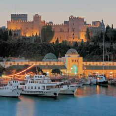 Medieval city of This gorgeous walled medieval city is the largest inhabited out of all walled medieval cities in Europe. Cities In Europe, Rhode Island, Florence, Medieval, Greece, Rhodes, City, Building, Travel