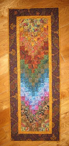 Art Quilt Paisley Passion Fabric Wall Hanging by TahoeQuilts, $118.00