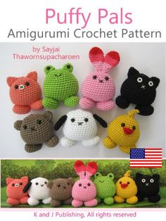 Amazon.com: Puffy Pals Amigurumi Crochet Pattern (Easy Crochet Doll Patterns Book 8) eBook: Sayjai Thawornsupacharoen: Kindle Store