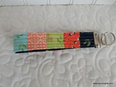 How to Make a Patchwork Key Fob | A Quilting Life - a quilt blog