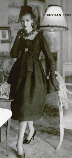 Sherlocks maternal grandmother, Evelyn DeRogue-Frinton (nee Roberts, 1917-2013) in 1958 wearing Christian Dior Clothing @Emma Openshaw