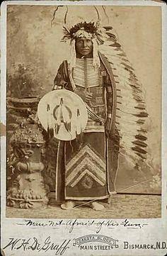 Man Not Afraid Of His Gun, Hidatsa chief 1890 Bismarck, North Dakota