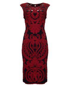 All New Arrivals | Black Delaney Tapework Dress | Phase Eight
