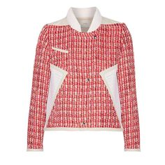 Tweed jackets are in: Click to see our favorite styles to shop right now, including this red Iro style.