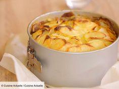 Recette Raclette invisible. Ingrédients (4 personnes) : 1 kg de pommes de terre, 200 g de fromage à raclette, 4 tranche de jambon cru... - Découvrez toutes nos idées de repas et recettes sur Cuisine Actuelle Apple Pie, Macaroni And Cheese, Oatmeal, Snack Recipes, Chips, Pudding, Vegetables, Cooking, Breakfast