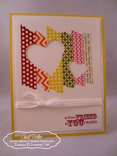 July 21, 2013   Best Of Greetings Blog Tour - Washi Tape card  by Andi Potler Best of Greetings, Hearts Collection Framelits