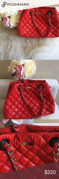 Kate spade quilted leather bag Kate Spade New York Gold Coast Maryanne quilted leather tote.  Good condition but, Shows signs of wear. Bags Totes