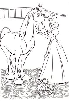 Disney Princess And Prince Coloring Pages Through The Thousand